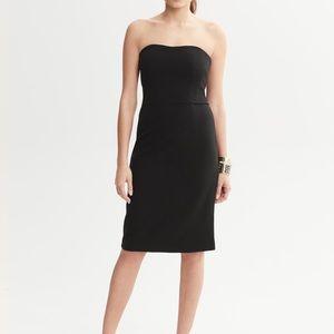 Banana Republic Black Strapless Dress